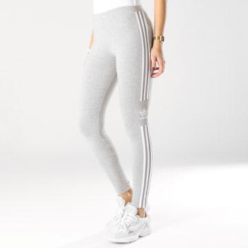Legging Femme Trefoil DV2641 Gris Chiné Blanc