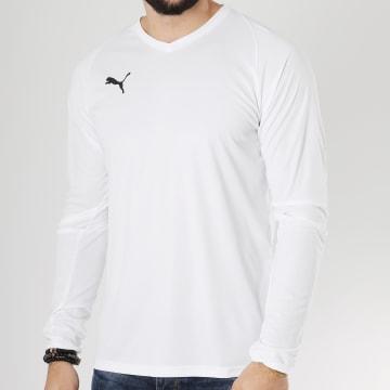 Puma - Tee Shirt Manches Longues Liga Jersey Core 703621 Blanc