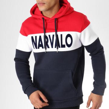 Sweat Capuche Narvalo Bleu Marine Rouge Blanc