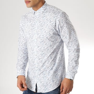 Chemise Manches Longues Blackpool Blanc Floral