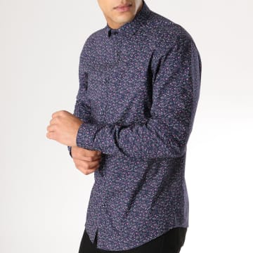 Chemise Manches Longues Blackpool Bleu Marine Floral