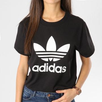 Adidas Originals - Tee Shirt Femme Boyfriend DX2323 Noir Blanc