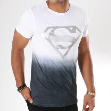 DC Comics - Tee Shirt Dégradé Silver Logo Blanc Noir Argenté