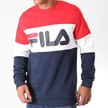 Sweat Crewneck Straight Block 681255 Rouge Bleu Marine