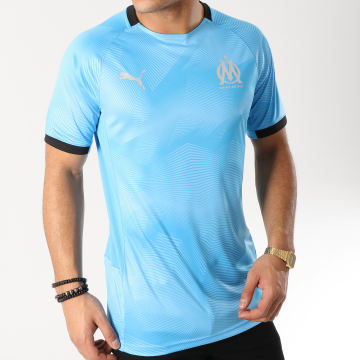 Tee Shirt De Sport OM Graphic Jersey 754654 Bleu Clair
