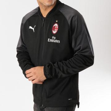 Veste Zippée AC Milan Stadium Poly Noir