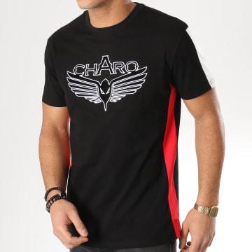 Tee Shirt A Bandes Velvet WY4542 Noir Blanc Rouge
