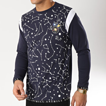 Anthill - Tee Shirt Manches Longues Constellation Bleu Marine