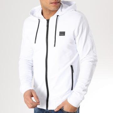 Sweat Capuche Zippé MMFL00412 Blanc