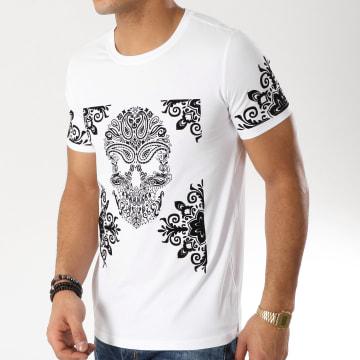 Tee Shirt Bandana TSJB004-1 Blanc Noir
