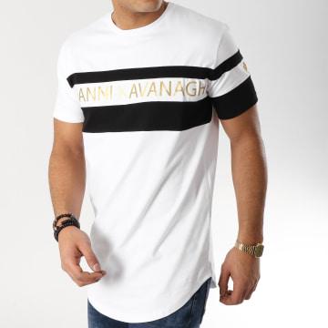 Tee Shirt Oversize Bandes Brodées GKG000905 Blanc Noir
