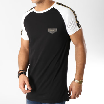 Gianni Kavanagh - Tee Shirt Oversize Avec Bandes GKG000940 Noir Blanc