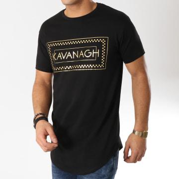 Tee Shirt Oversize Box Gold Noir Doré