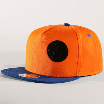 Dragon Ball Z - Casquette Snapback Goku Metal Badge Orange Bleu Roi