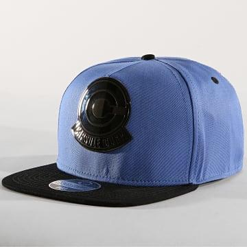 Casquette Snapback Capsule Corp Metal Badge Bleu Clair Noir