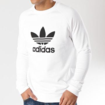 Adidas Originals - Sweat Crewneck Trefoil DV1544 Blanc
