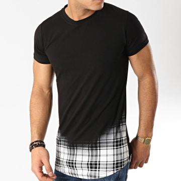 Tee Shirt Oversize Carreaux JAK-091A Noir Blanc