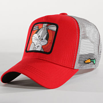 Casquette Trucker Bugs Bunny Rouge Gris