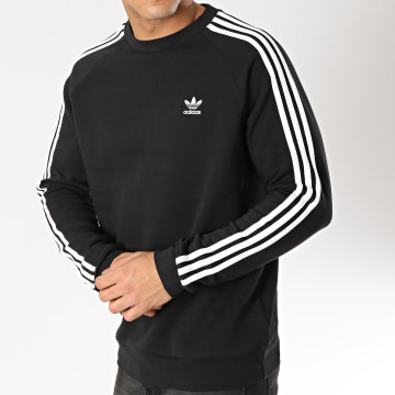 Adidas Originals - Sweat Crewneck 3 Stripes DV1555 Noir Blanc