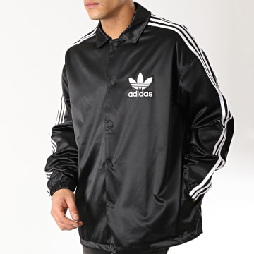 Adidas Originals - Veste Satinée Coach DV1617 Noir Blanc