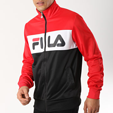 Fila - Veste Zippée Balin 682386 Noir Blanc Rouge