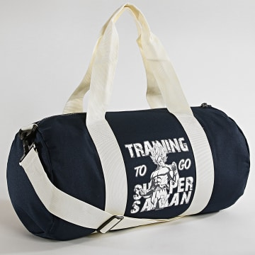 Sac De Sport Training To Go Super Saiyan Bleu Marine Ecru