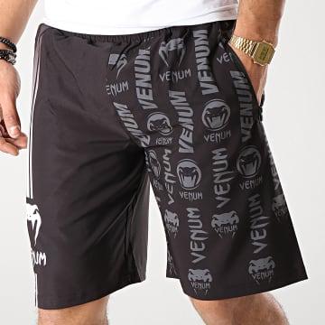 Short Jogging Logos 03447 Noir Gris Blanc