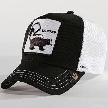 Goorin Bros - Casquette Trucker Skunked Noir Blanc