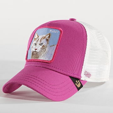 Casquette Trucker Pussy Rose Blanc