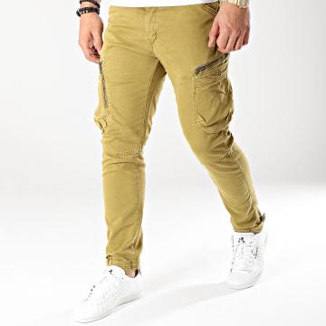 Pantalon Cargo T13019 Vert Kaki