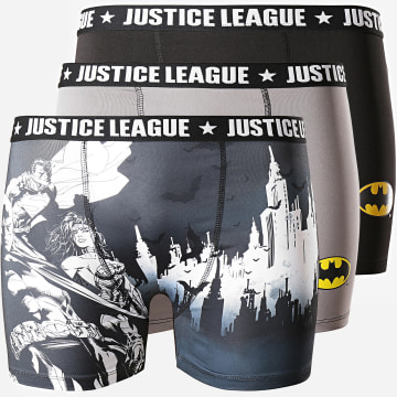 Lot De 3 Boxers Justice League BMX3 Noir Gris