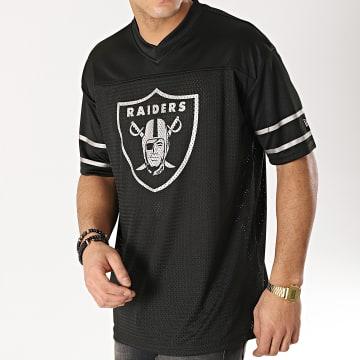 Tee Shirt De Sport Team Logo Oakland Raiders 11859991 Noir Argenté