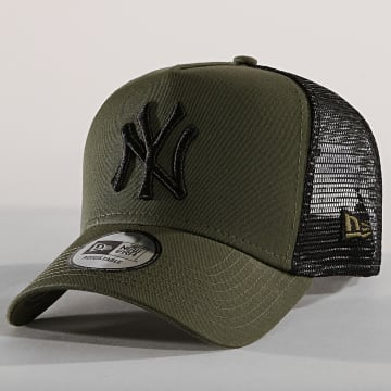 New Era - Casquette Trucker New York Yankees 11871464 Vert Kaki Noir