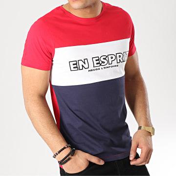 Tee Shirt En Esprit Tricolore Bleu Marine Blanc Rouge