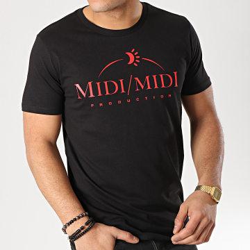 Tee Shirt Midi Midi Noir Rouge