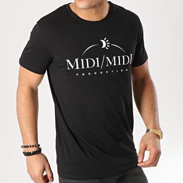 Heuss L'Enfoiré - Tee Shirt Midi Midi Noir Blanc