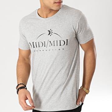 Tee Shirt Midi Midi Gris Chiné