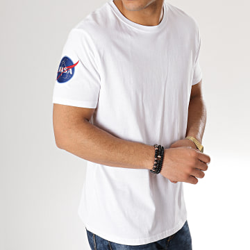 Alpha Industries - Tee Shirt Nasa 176506 Blanc