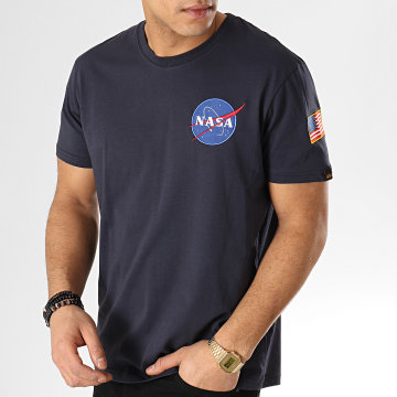 Alpha Industries - Tee Shirt Nasa Space Shuttle Bleu Marine