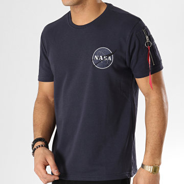 Tee Shirt Poche Bomber NASA Bleu Marine