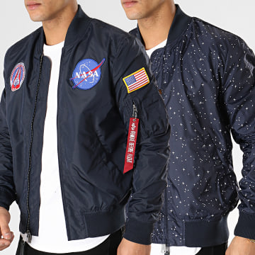 Alpha Industries - Bomber Reversible II MA1 TT NASA Bleu Marine