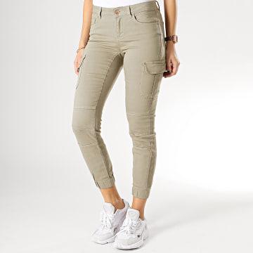 Only - Pantalon Cargo Femme Missouri Vert Kaki