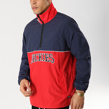 Dickies - Coupe-Vent Pennellville Rouge Bleu Marine