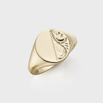 Chained And Able - Bague Vintage Signet RC17011 Doré