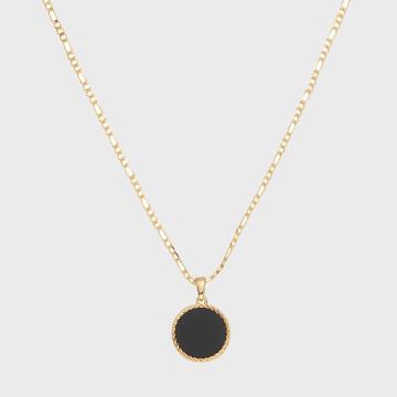 Collier Onyx Figaro Medallion NB17086 Doré