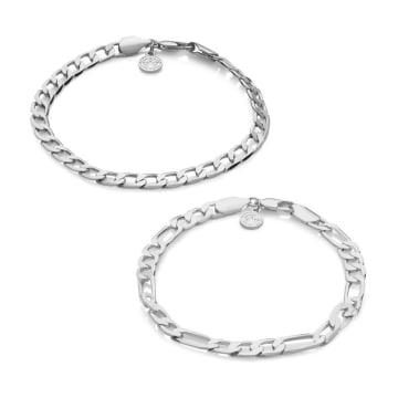 Chained And Able - Lot De 2 Bracelets Royal OE0P1 Argenté