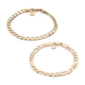 Chained And Able - Lot De 2 Bracelets Royal OE0P2 Doré