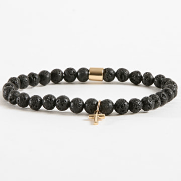 Chained And Able - Bracelet Cross Slim Moon Rock BB17045 Noir Doré