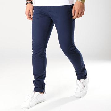 Celio - Pantalon Chino Moprime Bleu Marine