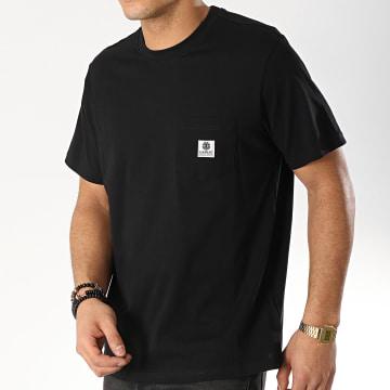 Element - Tee Shirt Poche Basic Pocket Label Noir